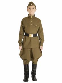 Военная гимнастерка с брюками-галифе подростковая