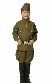 Военная гимнастерка с брюками-галифе детская