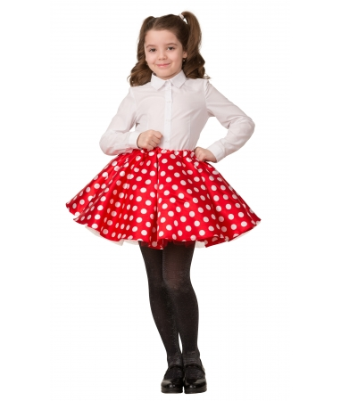 Карнавальная юбка в горошек детская