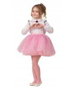 Карнавальная юбка розовая детская