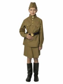 Военная гимнастерка подростковая с юбкой из саржи