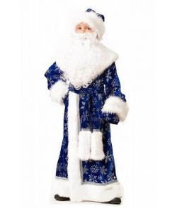 Костюм Дед Мороз (велюр) синий детский