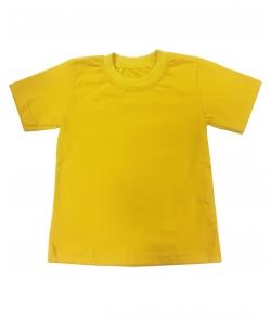 Желтая детская футболка без рисунка