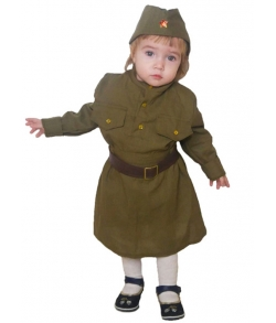 Военная форма солдаточки малышки 2-3 года