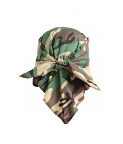 Детская военная косынка цвет зеленый кмф
