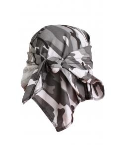 Детская военная косынка цвет серый кмф
