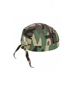Детская военная бандана цвет зеленый кмф