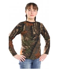 Толстовка детская камуфляжная 2-х нитка цвет лес