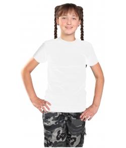 Детская белая однотонная футболка