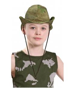 Детская военная панама афганка цвет атак рип стоп