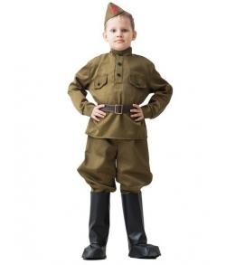 Детский костюм ВОВ солдат в галифе 8-10 лет