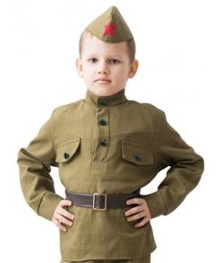 Детский военный набор Солдат 8-10 лет с гимнастеркой