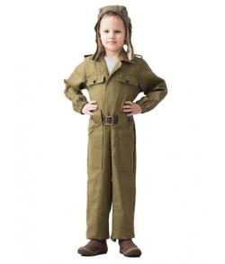 Детская военная форма танкиста 8-10 лет