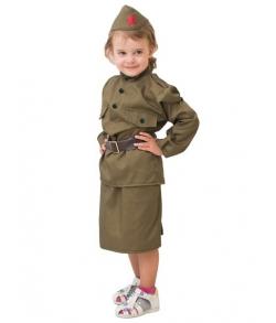 Детский костюм ВОВ Солдаточка 8-10 лет