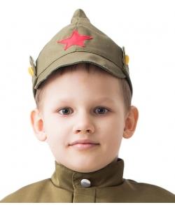 Детский военный головной убор Буденовка 56 см