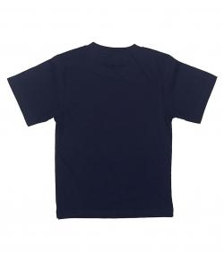Детская темно-синяя однотонная футболка