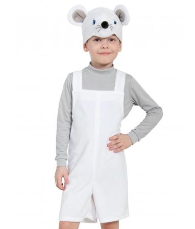 Костюм детский Мышонок белый плюш