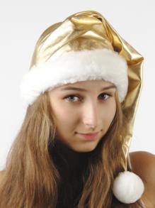 Колпак новогодний из парчи (золотой)