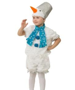 Карнавальный костюм «Снеговичок Снеговишка» (плюш)