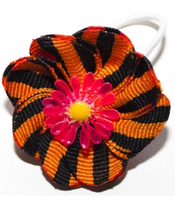 Военный бант для волос Цветок на резинке
