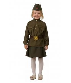 Костюм солдатка военная форма детский