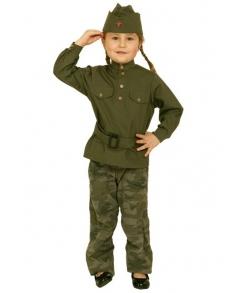 Гимнастерка детская военная с пилоткой и поясом