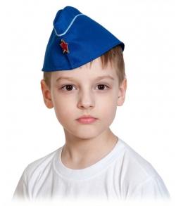 Пилотка летчика ВВС с кантом детская
