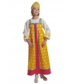 Костюм Аленушка в желтом детский