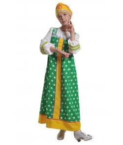 Костюм Аленушка в зеленом детский