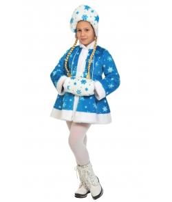 Костюм Снегурочка бирюзовая плюш детский