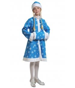 Костюм Снегурочка плюш бирюзовый детский
