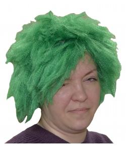 Парик Кикимора зеленый детский