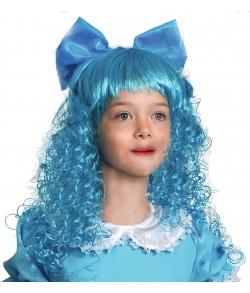 Парик Мальвина голубой детский