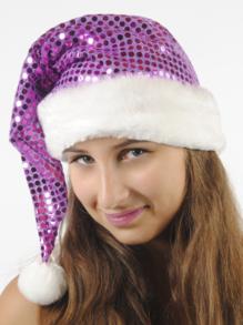Колпак новогодний из парчи (сиреневый) арт.109001008