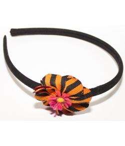Ободок для волос к военной форме Цветок