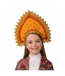 Кокошник Янтарный детский