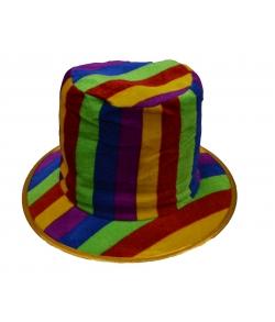 Шляпа клоуна в полоску