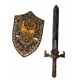 Набор рыцаря щит и меч