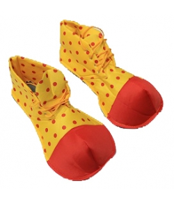 Ботинки клоун в горох