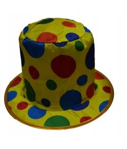 Шляпа клоуна в горох