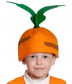 Шапка Морковка детская