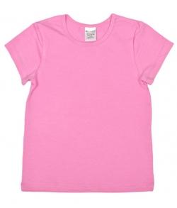 Розовая футболка детская