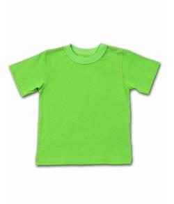 Детская зеленая однотонная футболка