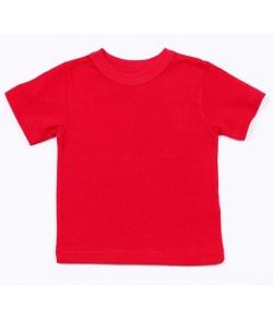 Детская красная однотонная футболка
