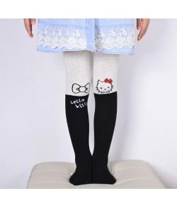 "Колготки с кошками ""Hello Kitty"" серо-черные"