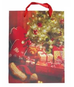 Пакет для сладких новогодних подарков «Подарки с мишкой»