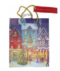 Новогодний пакет для подарков детям «Город перед Рождеством»