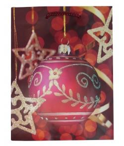 Упаковочный пакет новогодний «Шар красный»