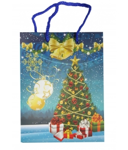 Новогодний пакет для конфет «Елка с подарками»