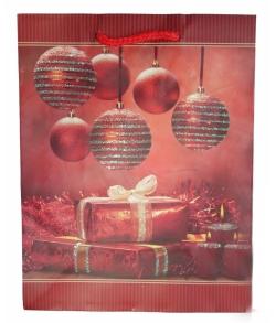 Новогодний пакет для конфет «Шесть шаров»
